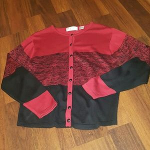 Black & red sweater